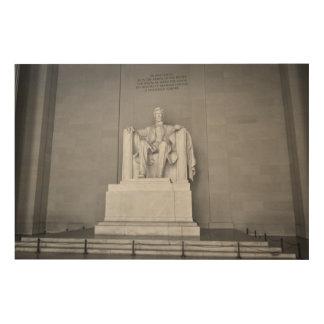 Impresión En Madera El Lincoln memorial en Washington DC