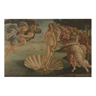 Impresión En Madera El nacimiento de Venus