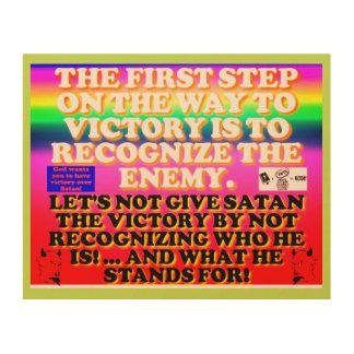 Impresión En Madera El primer paso en la manera a la victoria