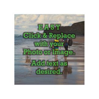 Impresión En Madera El tecleo simple y substituye la foto para crear