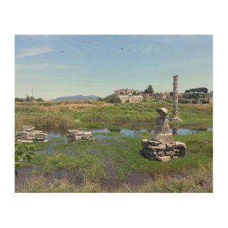 Impresión En Madera El Templo de Artemisa en Ephesus, Turquía
