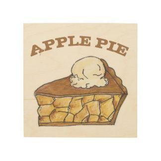 Impresión En Madera Empanada de Apple una cocina americana de la
