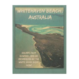 Impresión En Madera Entrada Australia de la playa de Whitehaven del