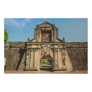 Impresión En Madera Entrada de Santiago del fuerte