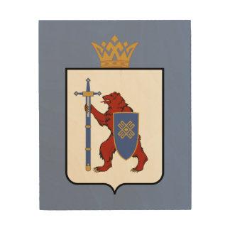 Impresión En Madera Escudo de armas de Mordovia