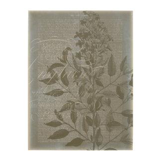 Impresión En Madera Fleur de Bleu I