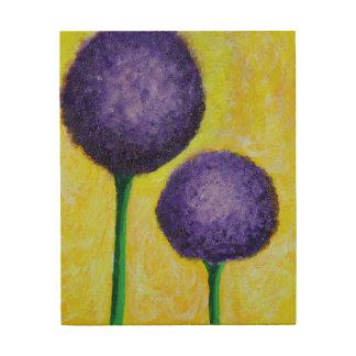 Impresión En Madera flor de la púrpura del allium