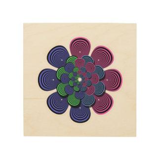 Impresión En Madera Flor del fractal