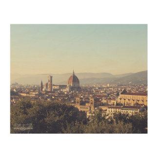 Impresión En Madera Florencia