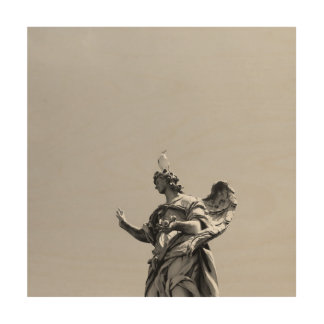 Impresión En Madera Foto simple, moderna de la gaviota encima de la