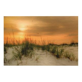 Impresión En Madera Gaviotas en la salida del sol
