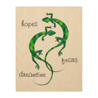 Impresión En Madera Geckos