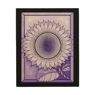 Impresión En Madera Girasol púrpura