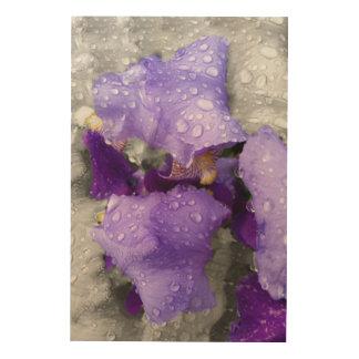 Impresión En Madera gotas de agua en el iris
