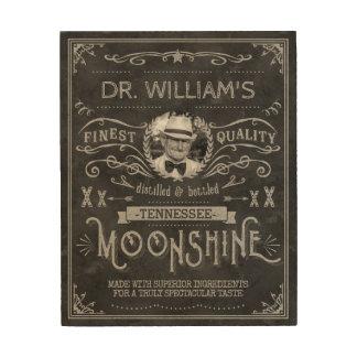 Impresión En Madera Gris de encargo del vintage de la medicina del