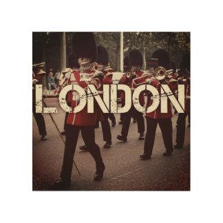 Impresión En Madera guardias de Londres