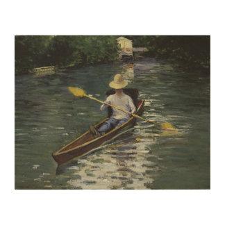 Impresión En Madera Gustave Caillebotte - canoa en el Yerres