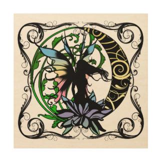 Impresión En Madera Hada de la sombra de Lotus