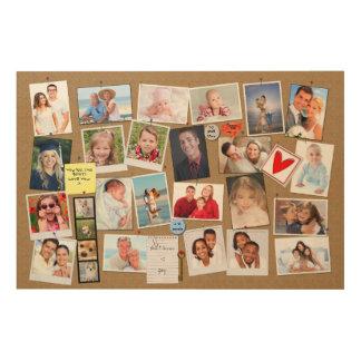 Impresión En Madera Haga su propia foto de las memorias el falso