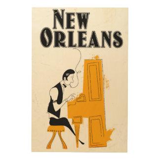 Impresión En Madera Honky Tonk de New Orleans