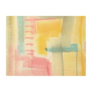 Impresión En Madera I de lujo en colores pastel