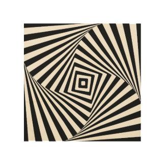 Impresión En Madera Ilusión óptica