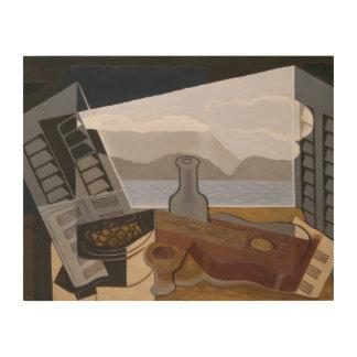 Impresión En Madera Juan Gris - la ventana abierta