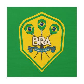 Impresión En Madera Juegos tradicionales del Pub del Brasil