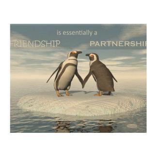 Impresión En Madera La amistad es essentailly una sociedad
