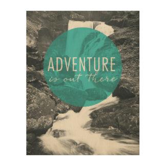 Impresión En Madera La aventura de los ríos el   está hacia fuera allí