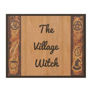 Impresión En Madera La bruja Prim la muestra de la bruja del pueblo