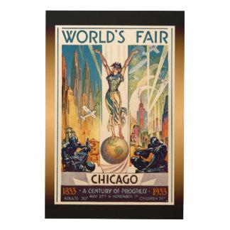 Impresión En Madera La feria de mundo de Chicago 1933 - art déco retro