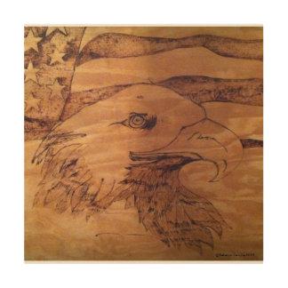 Impresión En Madera Libertad Eagle