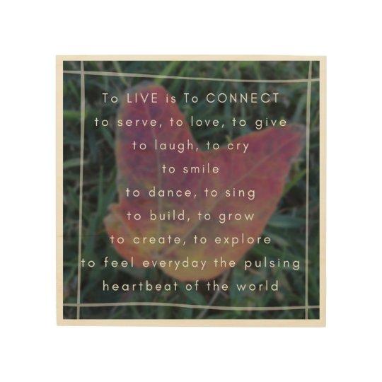 Impresión En Madera LIVE es CONECTAR el poema y la foto