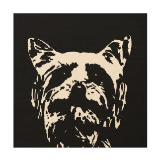 """Impresión En Madera Madera 12"""" de la plantilla de Yorkshire Terrier"""""""