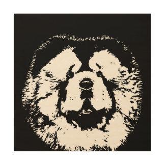 """Impresión En Madera Madera 12"""" de la plantilla del perro chino de"""