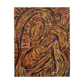 Impresión En Madera Madre y niño abstractos de la pintura original