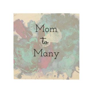 Impresión En Madera Mamá a muchos