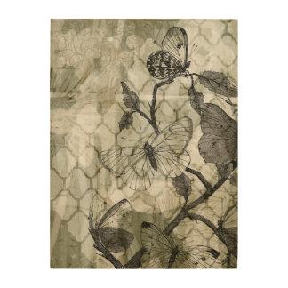 Impresión En Madera Mariposas del Arabesque II