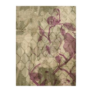 Impresión En Madera Mariposas del Arabesque IV