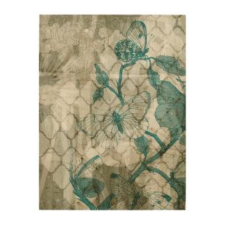 Impresión En Madera Mariposas del Arabesque VI