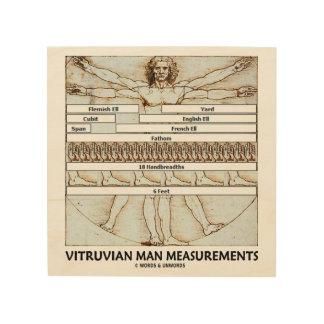 Impresión En Madera Medidas Leonardo da Vinci del hombre de Vitruvian