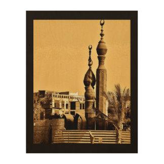 Impresión En Madera Mezquita de Balad del Al