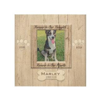 Impresión En Madera Mirada de madera conmemorativa del mascota con las