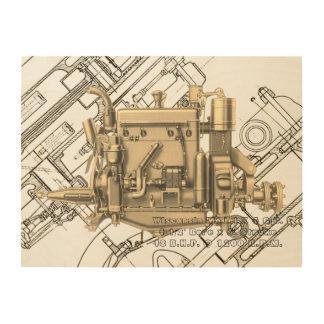 Impresión En Madera Motor de gas de Milwaukee Wisconsin del motor de