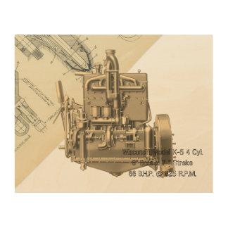 Impresión En Madera Motor K temprana de Milwaukee Wisconsin del motor