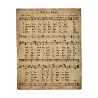 Impresión En Madera Muestra asombrosa de madera de la partitura del