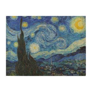 Impresión En Madera Noche estrellada el | Vincent van Gogh