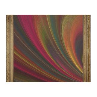 Impresión En Madera Ondas de arena suaves coloridas