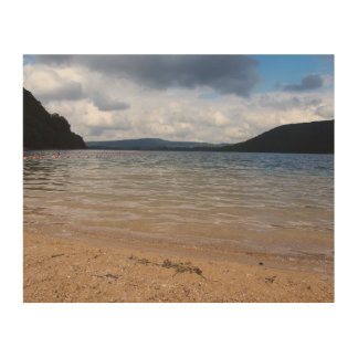 Impresión En Madera Opinión tempestuosa del lago